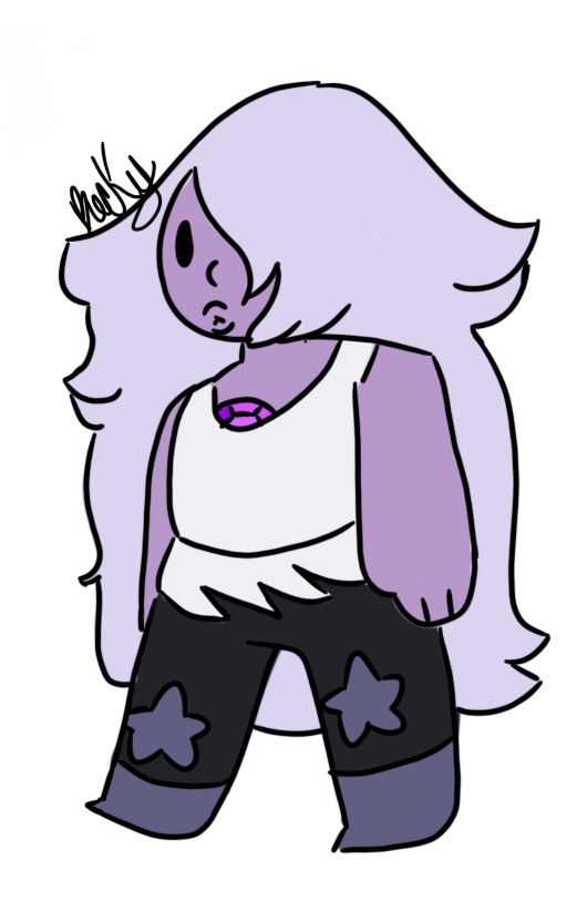 This is my first time drawing amethyst lol