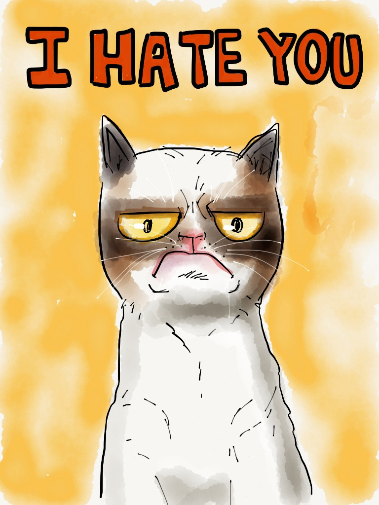 Grumpy the Cat made with #paperapp
