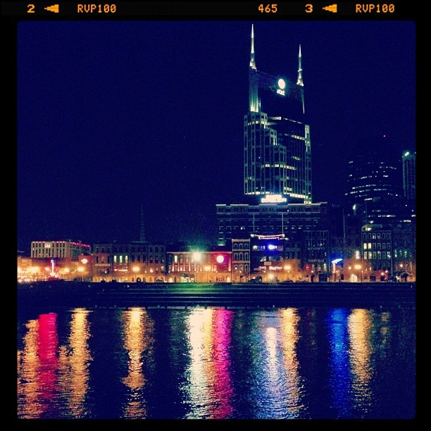 gregkb:  Batman at Night #nashville #nashvillefilter #river (at LP Field)