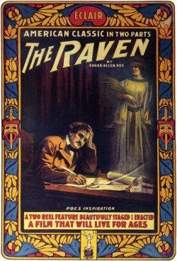 brudesworld:  Silent film star Guy Oliver plays the tormented author in this 1912 movie that adapts a handful of Poe's stories.