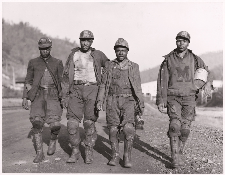 Miners with knee pads in West Virginia, March 1938.Photograph by B. Anthony Stewart, National Geographic