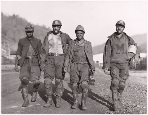 natgeofound:  Miners with knee pads in West Virginia, March 1938.Photograph by B. Anthony Stewart, National Geographic