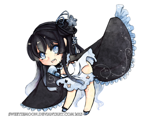Chibi for ilascott @ DA ! Thank you very much for adopting my first adopt ever *w*!