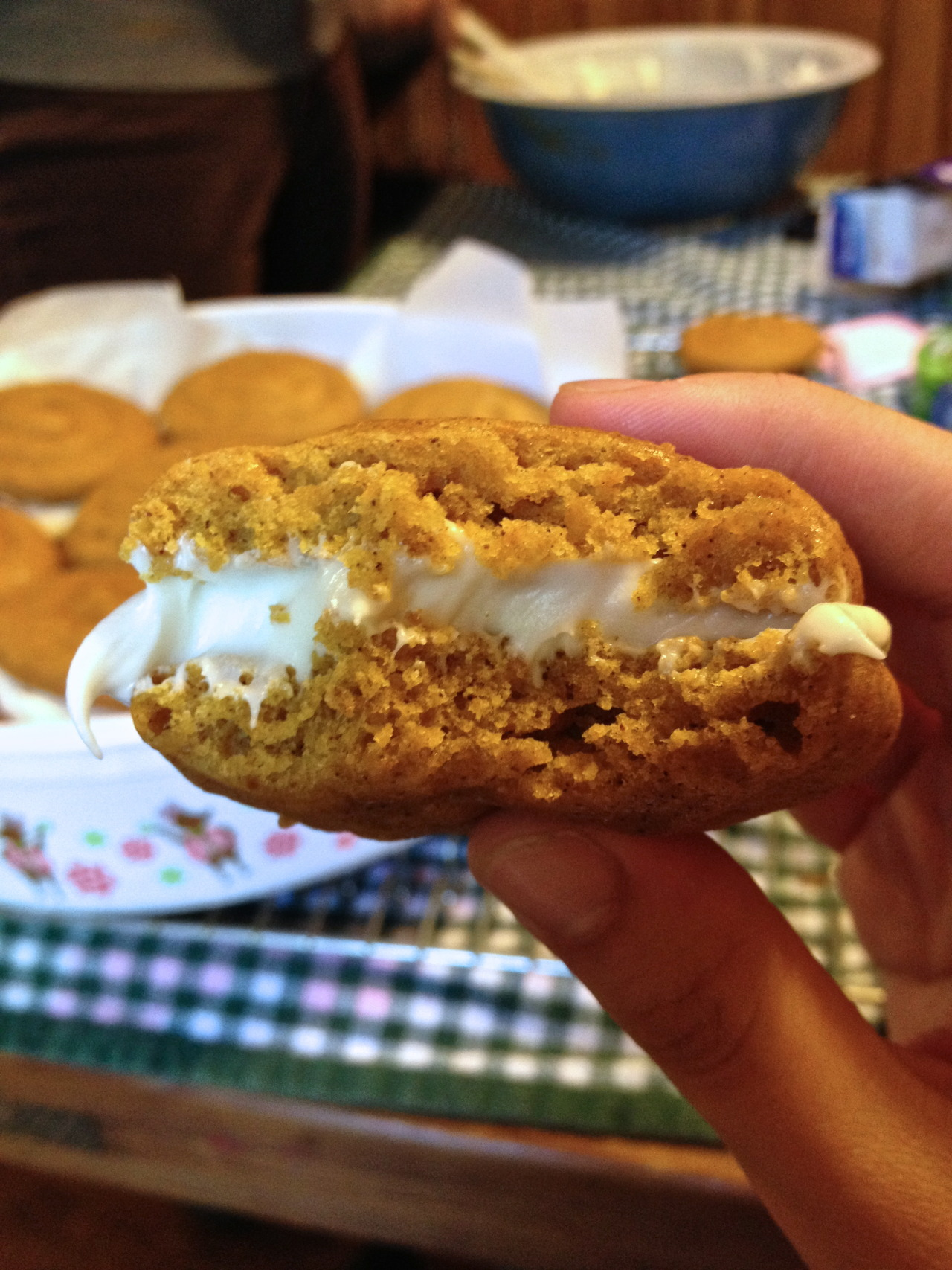literally the most popular thing I have EVER made:Pumpkin Whoopie Pies with Cream Cheese Filling. http://dreamydesserts.blogspot.com/2008/10/pumpkin-whoopie-pies-with-creamy-cream.html