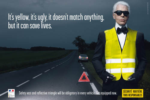 Karl Lagerfeld Stars in Road Safety Campaign
