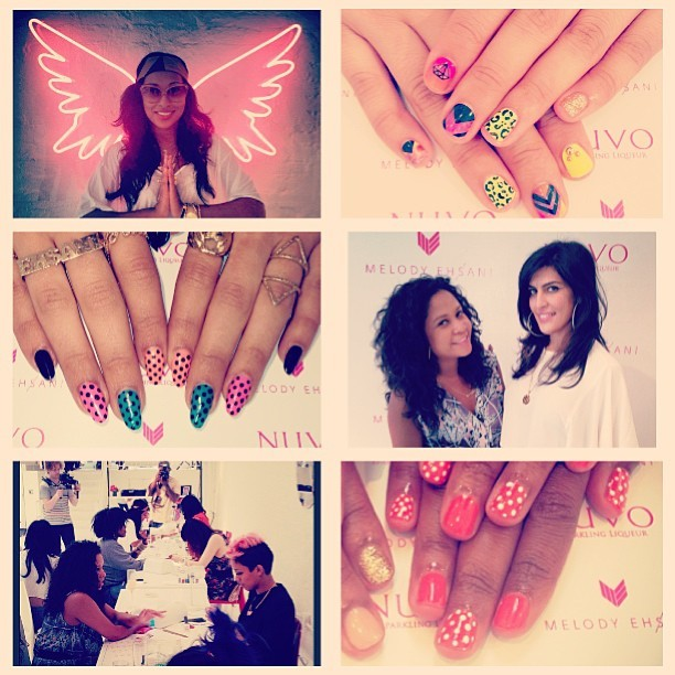 melodysblog:  Thx 2 all the total babes that came to my pop up nail bar today! SO fun. Can't wait to meet everyone tomorrow! 3-6pm at 201 Mulberry st. In NYC #melodyehsani #nuvonailbar