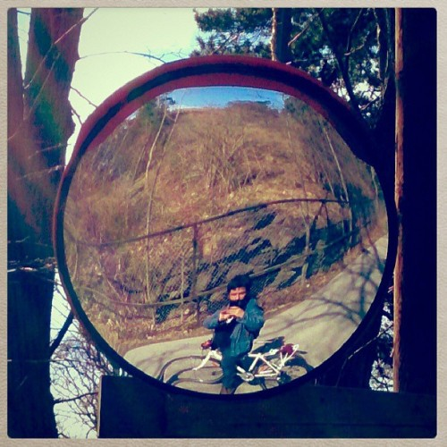 There was I, in the round #mirror. #Norge