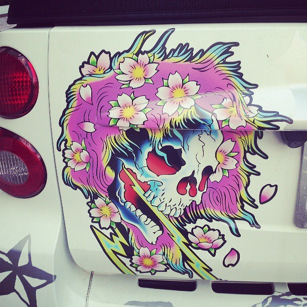 Pimped out #smartcar #decal #streetart #StreetArtMiami #miami #brickell
