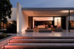 "designed-for-life:  The house is located in a district in the east area of Santiago, and one of its characteristics is the presence of old trees. The spaces are organized in an ""H"" shaped plant adapted to the lot, having great care for the trees and creating patios that reinforce their presence from the inside."