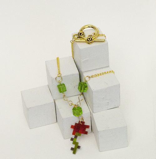 raredropjewelry:  New Item! Minecraft Rose Necklace  Minecraft Rose Necklace Better photograph of my new rose necklace! There are three available for…  View Post