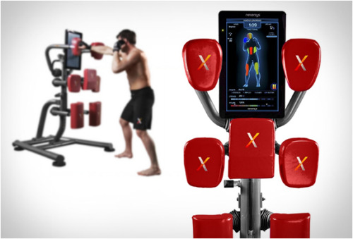 fatseagull-design:  Like Boxing? Nexersys Boxing Unit ($2995) will be your personal trainer, not because you can't afford one (this machine is pretty pricy), but probably because you can't stand the real one. Anyway, it's a pretty cool machine, giving feedback from your punches, analyzing your power and accuracy, like the way Ivan Drago did. Awesome.