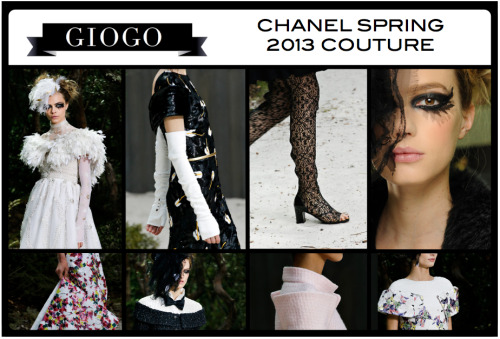 #GETIN to the details of the Chanel Spring 2013 Couture Collection   References from Style.com