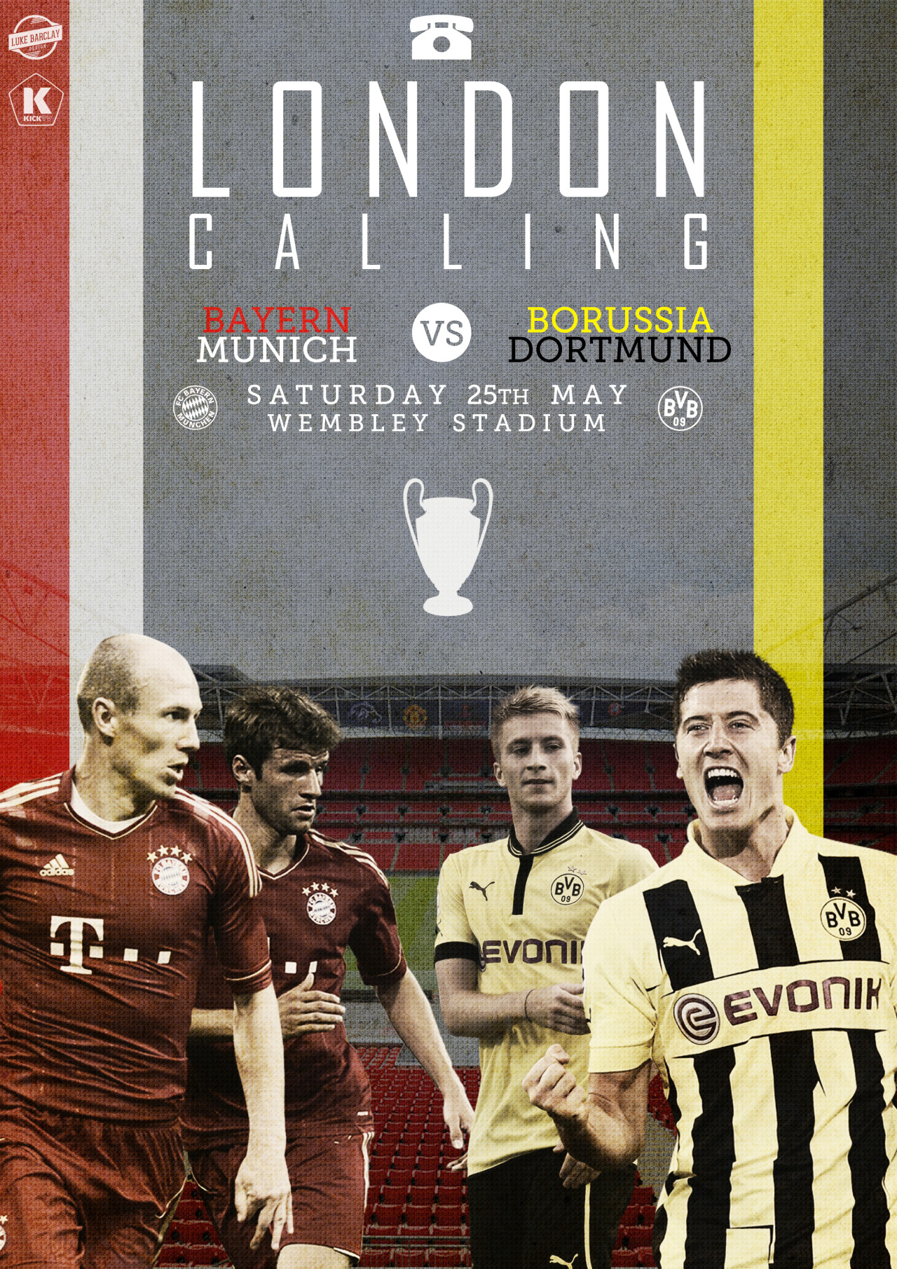 kicktv:  London's calling for an all-German final. [art by Luke Barclay]  And I shall be there!
