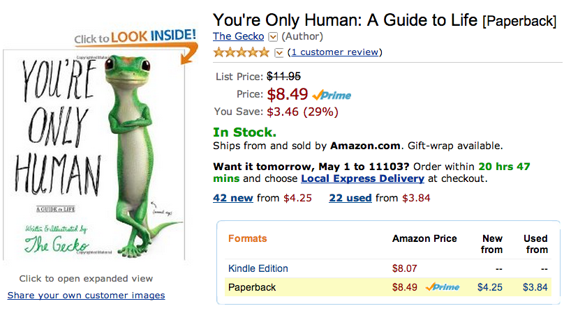 synecdoche:  You may not have a book deal but the gecko from GEICO does.   See what happens when you're busy having Opinions about Lena Dunham's book deal? You look away for ONE second…