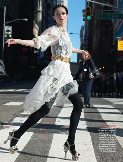 "collections-from-vogue:  Coco Rocha in ""Gracia Urbana"" Photographed By Dewey Nicks & Styled By Sarah Gore Reeves For Vogue Mexico, December 2012"
