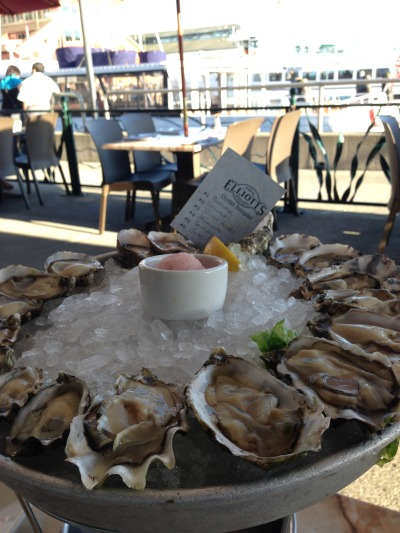 Delicious Oysters at Elliott's in Seattle!