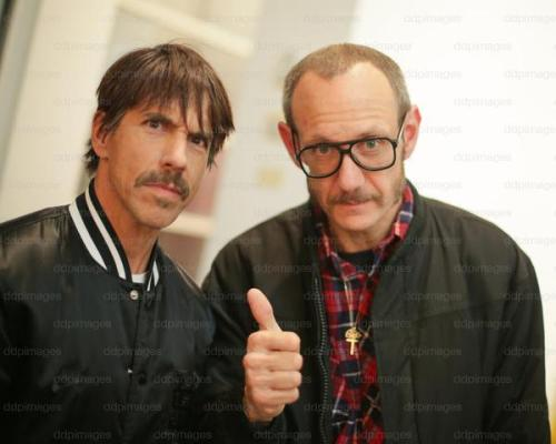 Anthony Kiedis & Photographer Terry Richardson at Richard Prince's Cowboys Exhibition at the Gagosian Gallery in Beverly Hills on Feb 21st, 2013.