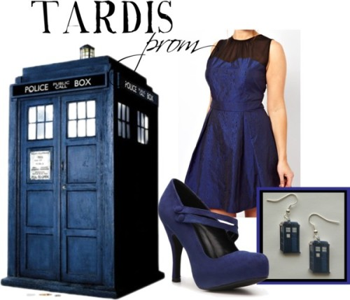 TARDIS for prom, plus size Buy it here!