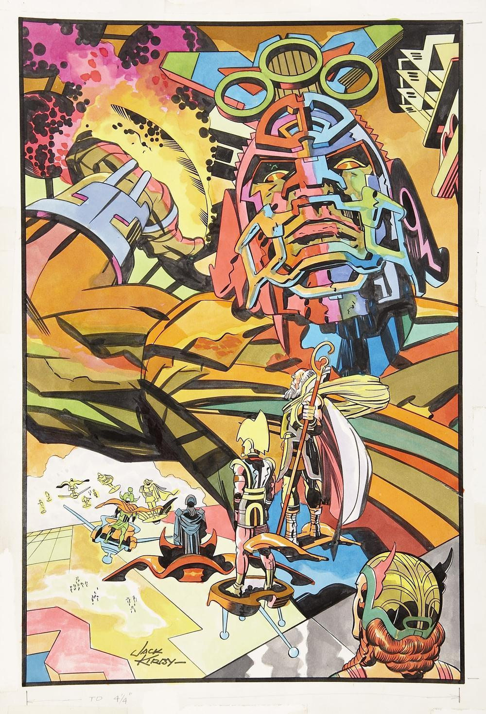Illustration by Jack Kirby.