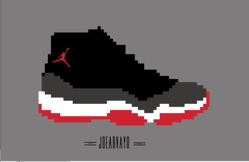 Made this 8bit Jordan 11 shoe . Prob only one I would wear .