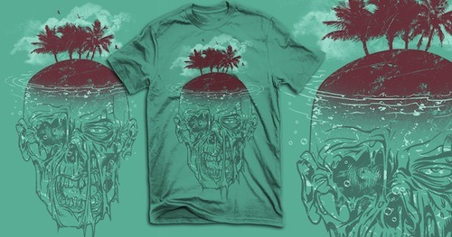 threadless:  Currently, Dead Island by RicoMambo is the highest scoring submission in our Dead Island: Riptide design challenge! How long will it remain at the top? That's up to you! Score some Dead Island: Riptide submissions!