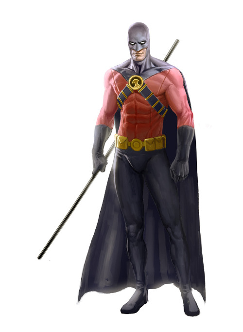 batman-blog:  ntlogica:  Red Robin By: John Derek Murphy  http://batman-blog.com/