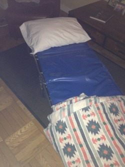 My sleeping quarters for the night.