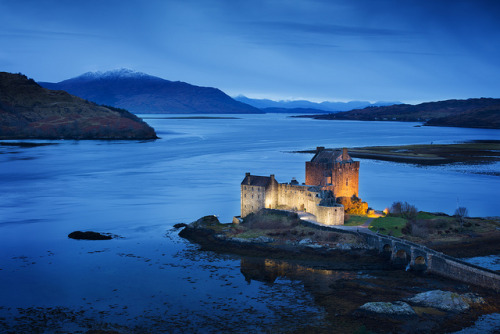Eilean Donan Castle at Dusk  | by © Ally Mac | via facflickrfavorites