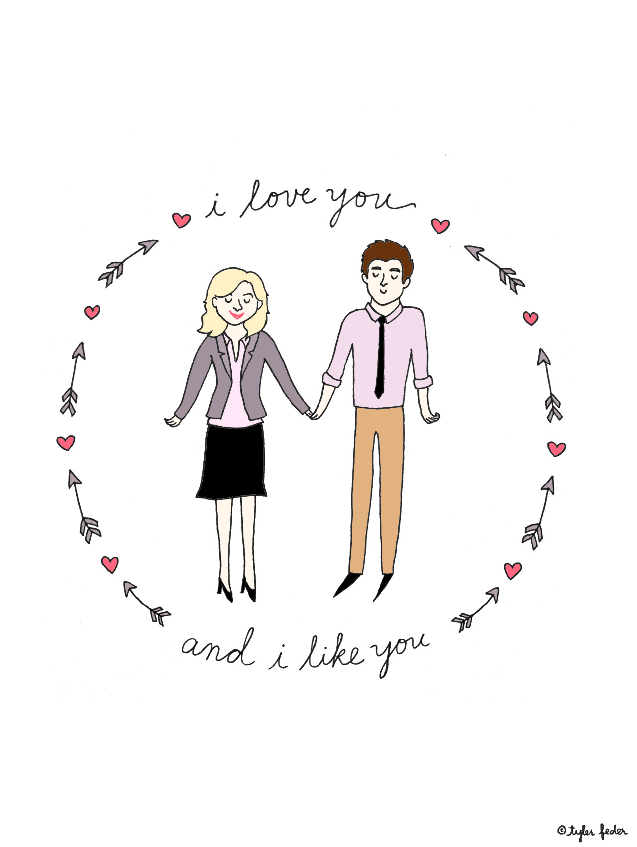 I love you and I like you (by Tyler Feder)