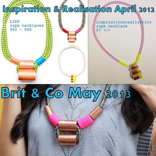 crankycrafter:  DIY Copper Necklace Tutorials. inspiration & realisation Leif knockoff necklace tutorial http://www.inspirationrealisation.com/2012/04/diy-your-own-leif-necklace.html Brit & Co copper necklace tutorial http://www.brit.co/rope-necklaces/     truebluemeandyou: I love hardware jewelry. Find lots more more hardware jewelry DIYs here: truebluemeandyou.tumblr.com/tagged/hardware EDIT: hmmmmm…. another of Brit's necklaces at the link look identical to Honestly…WTF hardware necklaces. I'm sure it's just a coincidence.