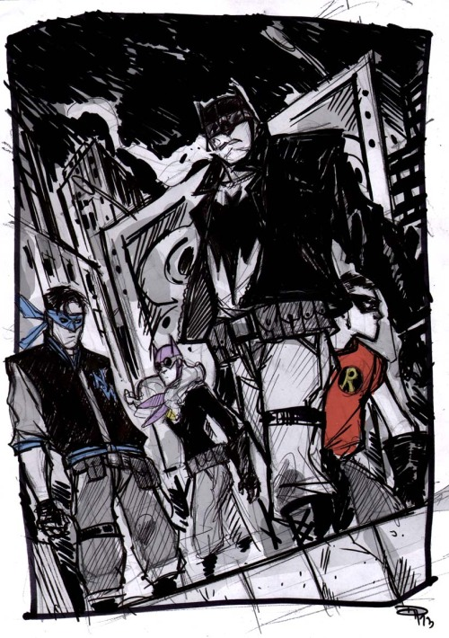 fyeahbatgirl:  Rockabilly Bat Family by Denis Medri