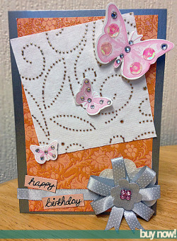 Beautiful Handmade Birthday card from Tiny Sparks Creations. Buy now from here! UK SHIPPING ONLY