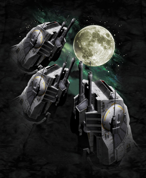 darth-realist:  3 AT-AT Moon by notviper