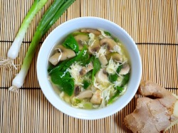 healthier-habits:  Egg Drop Soup with Mushrooms and Spinach Recipe Link: budgetbytes.blogspot.com Click here for more healthy recipes!