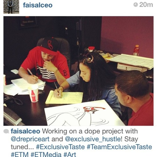 #repost @faisalceo @4exclusivetaste we have a bomb project in the works. Stay tuned! #ExclusiveTaste