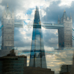 Tower Bridge/Shard, London: Double Exposure