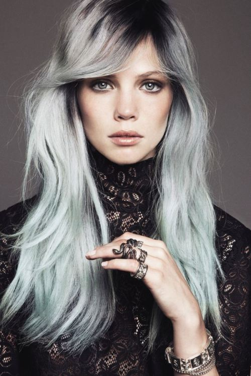 L'Express Styles (+) photographer: Paul Morel Eloise Opryszko gray hair hair crush