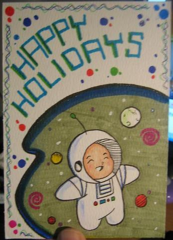 Back when I had the extra time to do painted and personalized holiday cards.