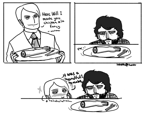 inketh:  Basically.  All I can think when he makes dinner is that when he eventually gets caught, everyone is going to look at each other like: