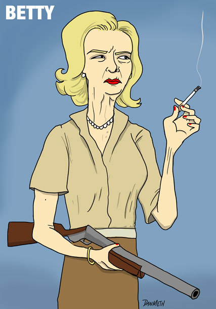danmeth:  How psyched are you for Mad Men???? Here's a couple drawings I've done over the years that were inspired by my favorite TV show. The last four went with a very funny article on Vulture.com about the future of the show.