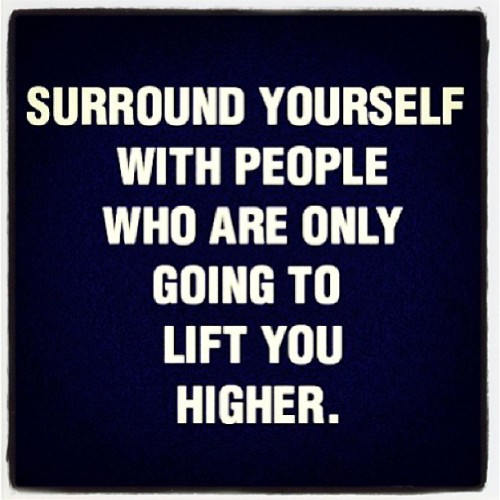 """Surround yourself with people who are only going to lift you higher."" ✨Good night world 🌟#quotes #reflection #tonyrobbins #upw #friends #inspiration #love #dreams #goals #family #jimrohn #motivation #positivity :)"
