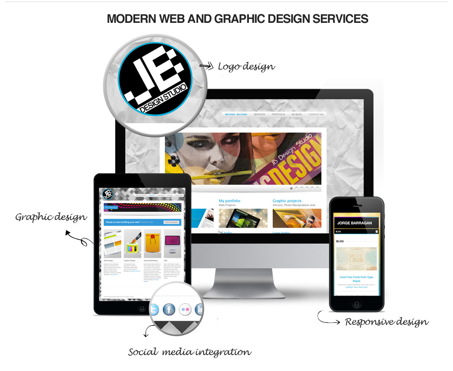 JB Design Studio | Modern and professional Web and Graphic design Services.