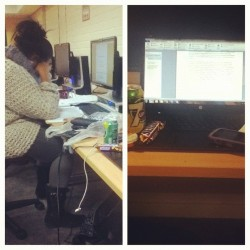 #picstitch in the pc lab tryna get this assignment done before tomorrow. 889/3000 words uno 😓