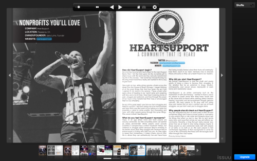 kschlabaugh:  Heartsupport is in the latest issue of Highlight Magazine!!! Check it out here:  http://issuu.com/highlightmagazine/docs/issue15/13  Read all about Jake Luhrs of August Burns Red's nonprofit organization, HeartSupport in Issue #15, and be sure to stop by the tent at Warped Tour this summer!