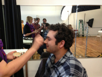 Zach getting PYT'ed for our Cincinnati Magazine photoshoot.