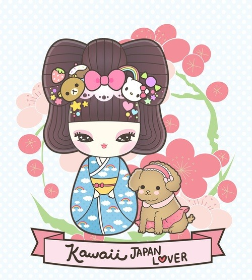 cupcakesforkesha:  Kawaii / Kawaii Japan Lover #kawaii #cute #kokeshi #illustration on @weheartit.com - http://whrt.it/11tKblC