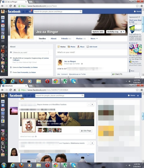 upgraded na ang facebook ko. -.-