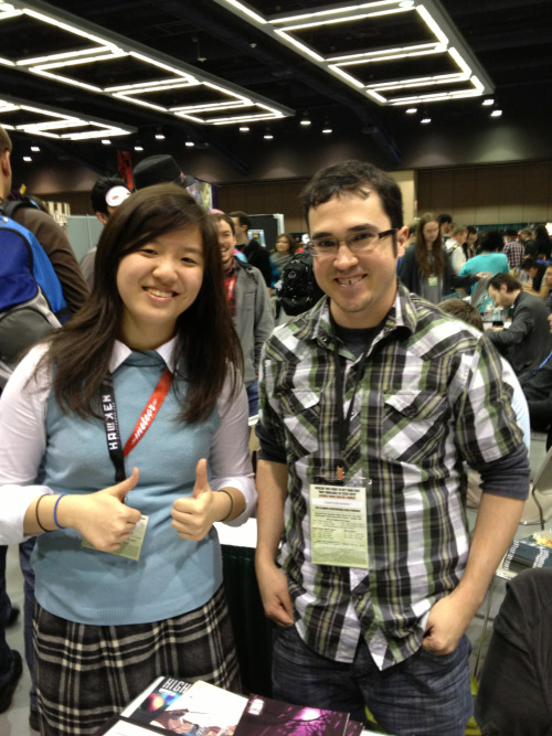 jeisma:  Hey, so I met Akiko from Morning Glories at Emerald City Comic Con. :)