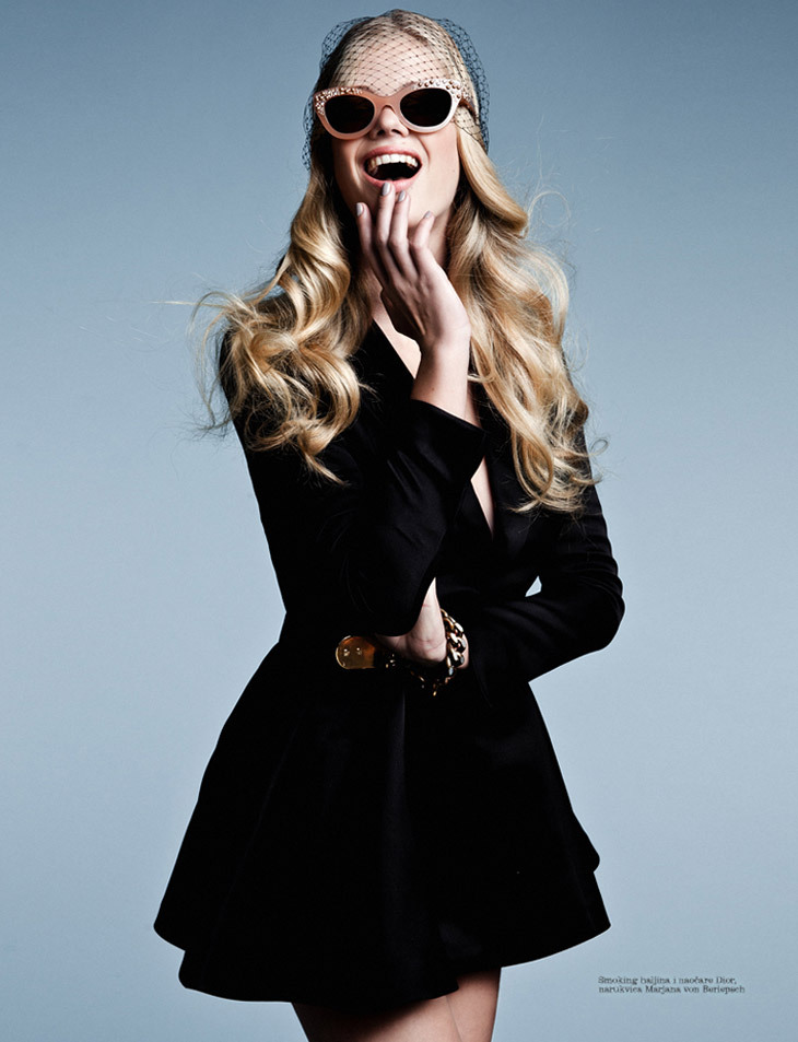 Valerie van der Graaf by Conny Kirste for Elle Serbia