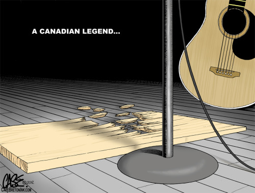 Stompin' Tom Connors. Gone but not forgotten…